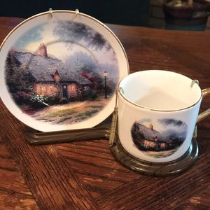 "Thomas Kinkade ""Moonlight Cottage"" coffee cup set"